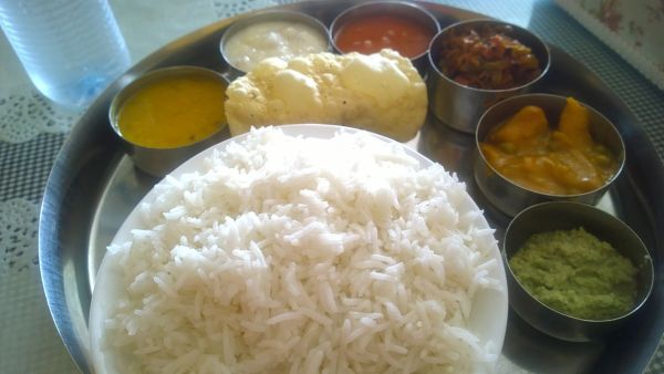Vegetarian Thali at an Indian restaurant- Kid World Citizen