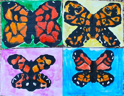 Stunning monarch butterfly art for kids for Butterfly art and craft