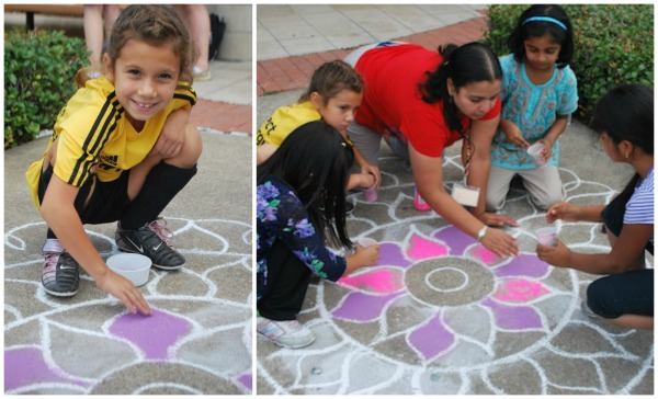 Diwali Rangoli Art from India- Kid World Citizen