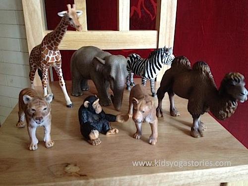 African animals yoga for Kids- Kid World Citizen