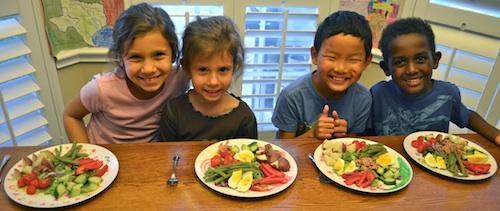 Kids Make Salad Nicoise- Kid World Citizen