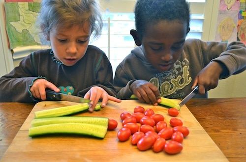 Kids Making Salad- Kid World Citizen