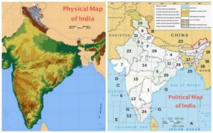 Physical and Political Maps Kids of India- Kid World Citizen