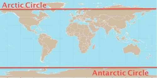 World map with antarctic arctic circle- Kid World Citizen