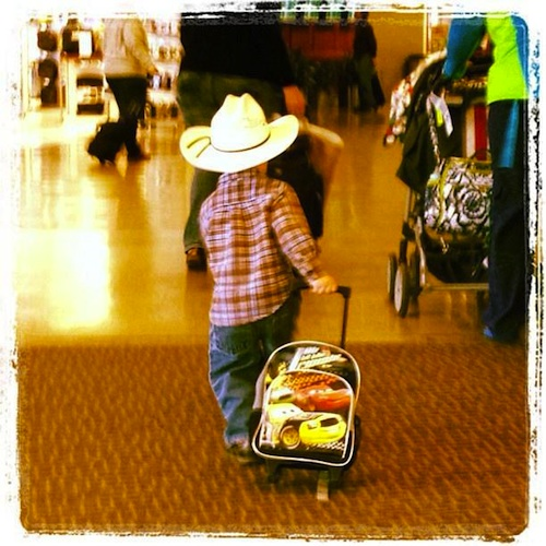 Europe with Kids little cowboy- Kid World CItizen