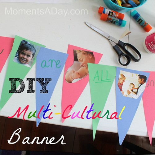 Multicultural Banner- Kid World Citizen