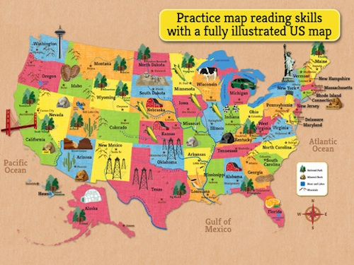 5 Map Apps To Help Children Learn About Maps And Geography - Us-map-for-kids