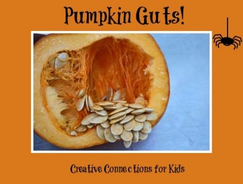 Exploring Pumpkin Guts for Halloween- Kid World Citizen