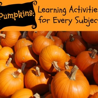 Using Pumpkins for Learning in Every Subject