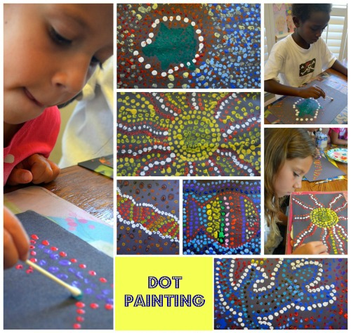 Australian Dot Painting- Kid World Citizen
