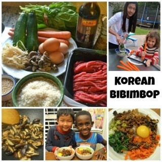 Korean Bibimbop for Kids + Learn about Korea