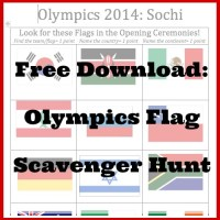 Olympics Activities for Kids: Flag Scavenger Hunt for the Opening Ceremonies!