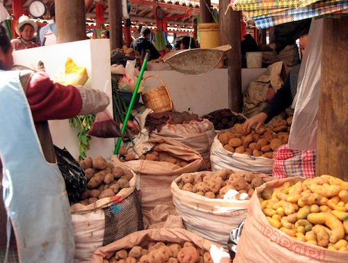 Peru Potato Market- Kid World Citizen