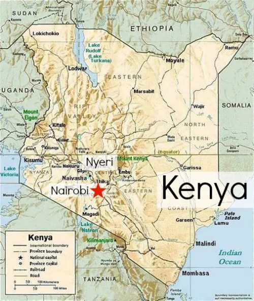 Kenya map- Kid World Citizen