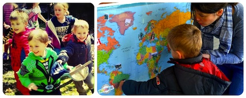 Geography Lessons for Kids Egg Hunt Collage- Kid World Citizen