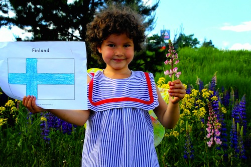 Finnish Flag- Kid World Citizen
