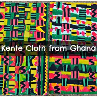 Ghanian Kente Cloth Kids Art Project