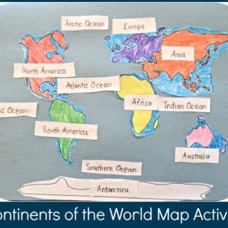 Continents of the World Map Activity for Kids