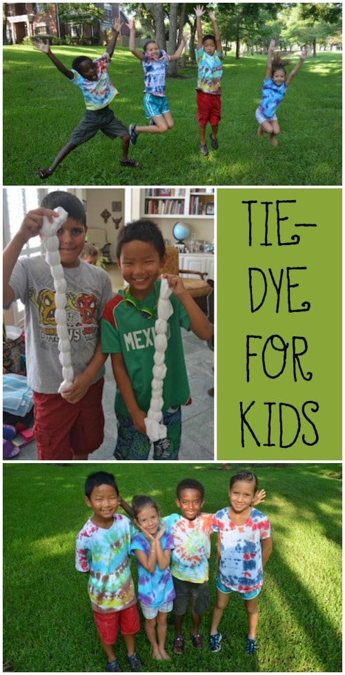 Tie-Dye Shirts Kids Summer Activities- Kid World Citizen