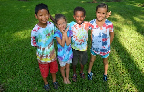 Tie-Dye Shirts Kids Activity- Kid World Citizen
