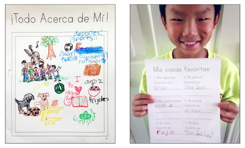 All About Me Book Spanish- Kid World Citizen