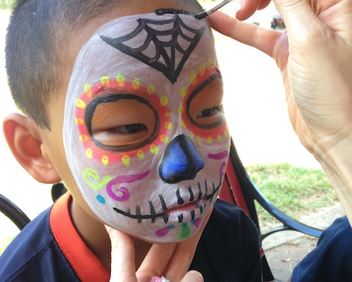Day of the Dead Face Paint Design Boy- Kid World Citizen