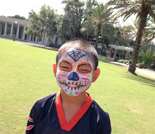 Day of the Dead Face Paint Skull Design- Kid World Citizen