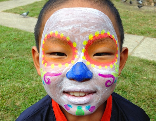 Day of the Dead face Paint designs- Kid World Citizen