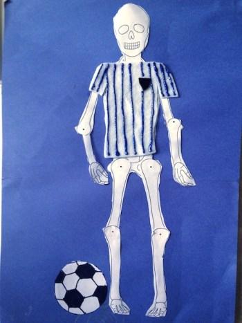 Soccer Player Skeleton Craft- Kid World Citizen