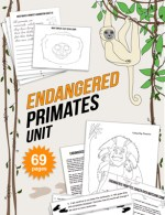 Endangered species unit endangered primates reading math science kids