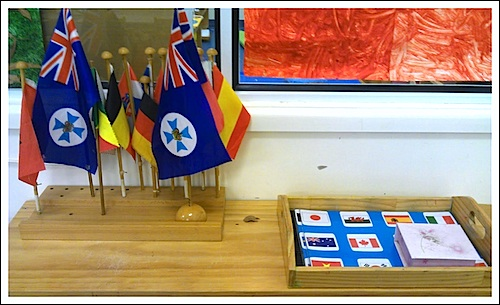 Flag Montessori Geography Activity- Kid World Citizen