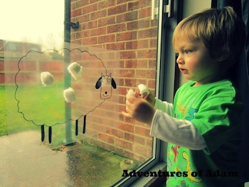 Sheep Craft Window Art- Kid World Citizen