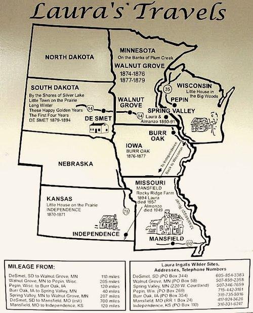 Laura Ingalls Museum Travel Map- Kid World Citizen