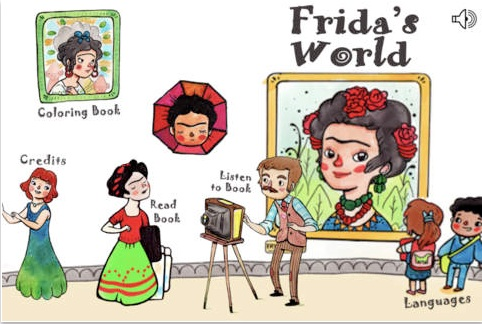 Frida Kahlo Kids Spanish Games App- Kid World Citizen