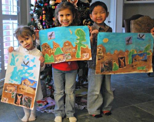 Desert Collages Art Projects Kids Pat Mora- Kid World Citizen