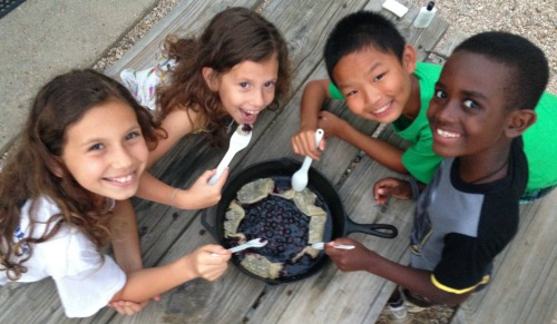Blueberry Galette Grill Camping Dessert- Kid World Citizen
