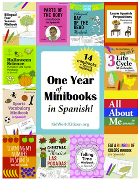 Spanish Minibooks Giveaway- Kid World Citizen