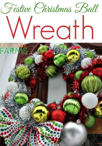DIY Christmas Ornament Wreath- Kid World Citizen