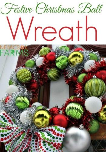 DIY Christmas Ornament Wreath- Kid World Citizen