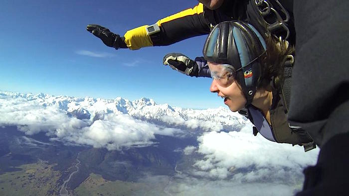 Skydiving New Zealand Teacher Travel GEEO- Kid World Citizen