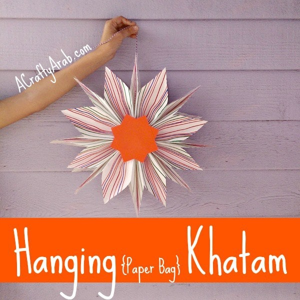 A Crafty Arab Hanging Paper Bag Khatam - Kid World Citizen