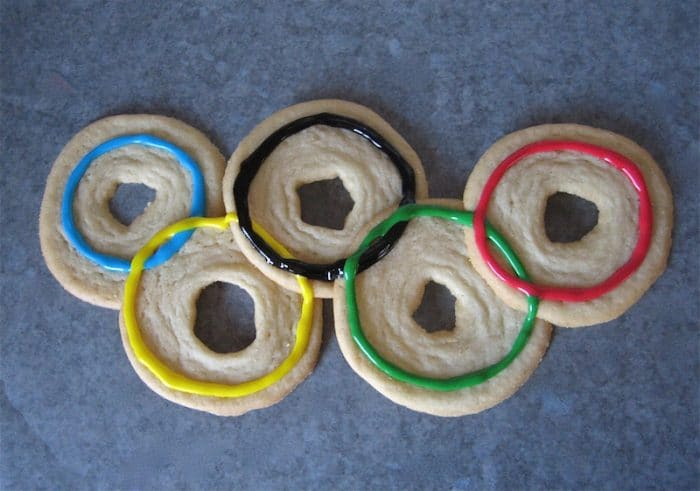 Olympic cookie rings- Kid World Citizen