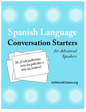 Spanish Conversation Practice Advanced- Kid World Citizen