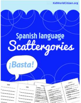 Spanish Conversation Practice Scattegories- Kid World Citizen