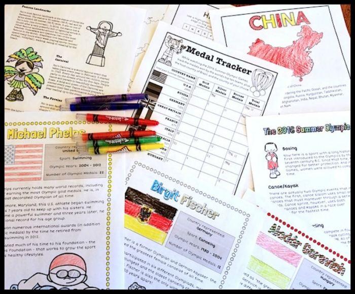Olympics Activities History Geography- Kid World Citizen