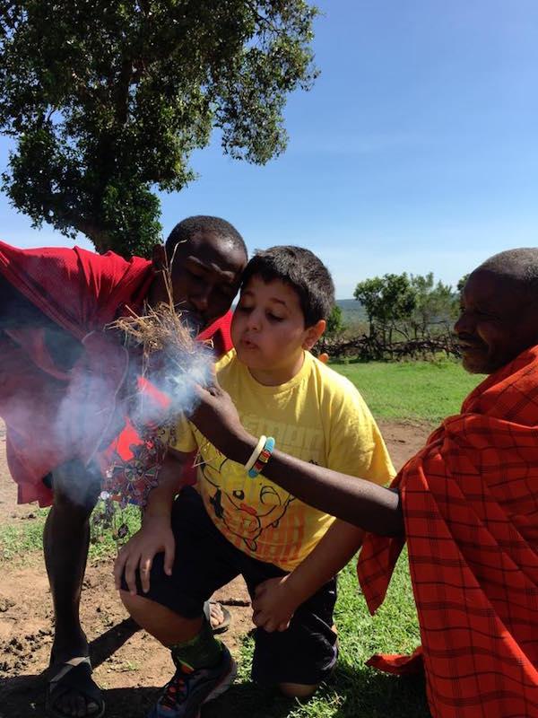 masai with kids kenya travel- Kid World Citizen