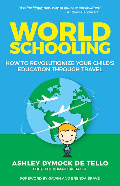 What is WorldSchooling Book Cover- Kid World Citizen