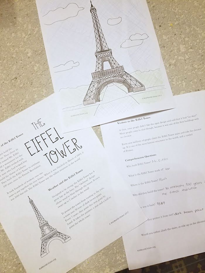 Eiffel Tower Reading- Kid World Citizen