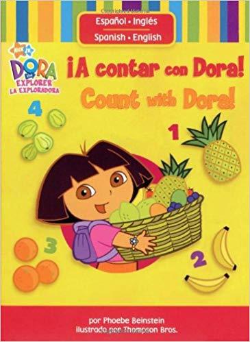 Contar con Dora Spanish Toddler Book- Kid World Citizen