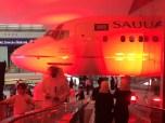 The impressive Saudi Airlines fuselage marks the entrance of KidZania Jeddah